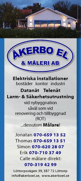 Åkerbo El - din elektriker på norra Öland!
