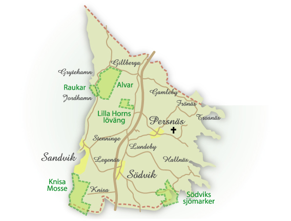 Naturområden i Persnäs