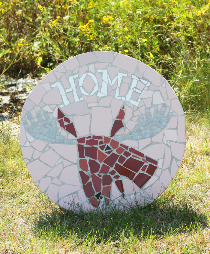 "Annika Huett mosaikbord ""Home"""